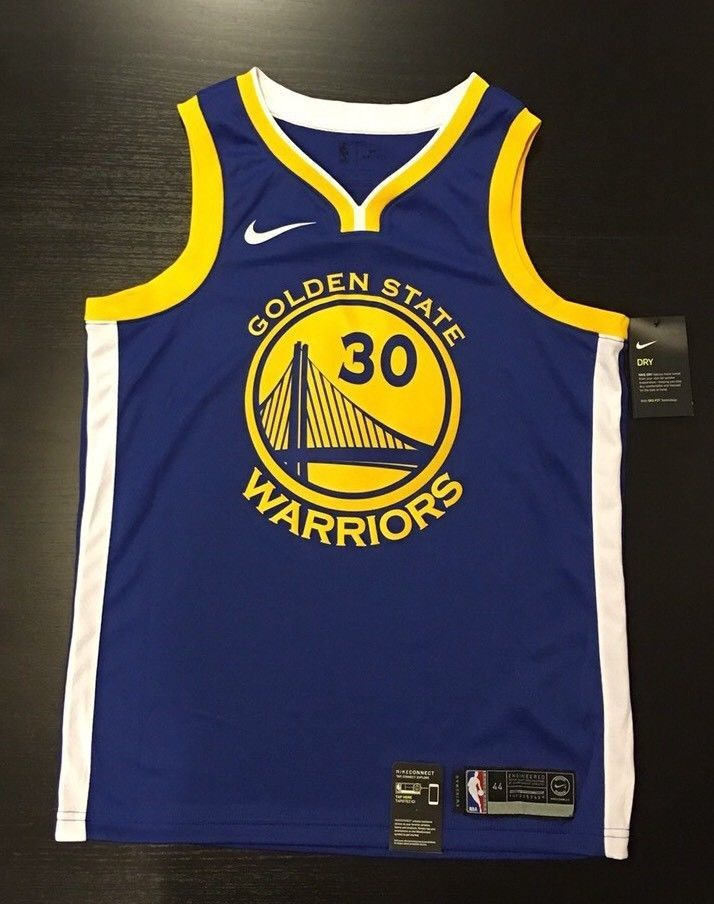 official photos b1c22 702bc NWT Nike Men Warriors Swingman Jersey Stephen Curry 30 NBA ...