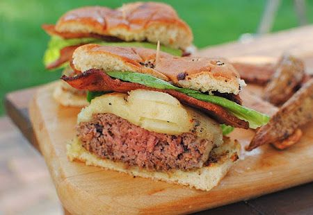 Grilled Bourbon Bacon Burgers /// #recipes #cooking #Delicious