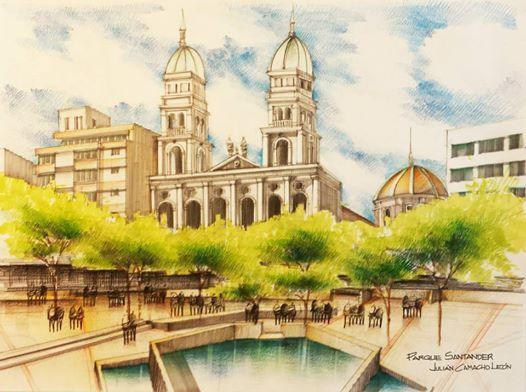 Catedral de la Sagrada Familia - Bucaramanga! ahora a color!! homenaje al Patrimonio Arquitectónico!