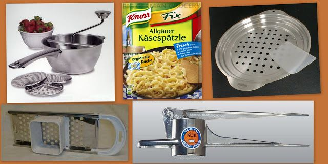 The Iowa Housewife: Make it Yourself...Spaetzle Makers