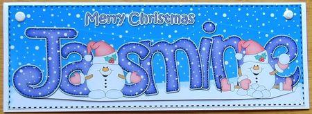 Large DL Christmas JASMINE Snowmen Sam 3D decoupage - Photo by Joyce Watson