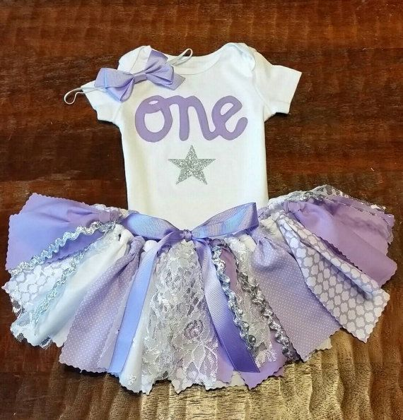 Three Piece Lavender Purple Glitter Silver & White by CamiAndJo
