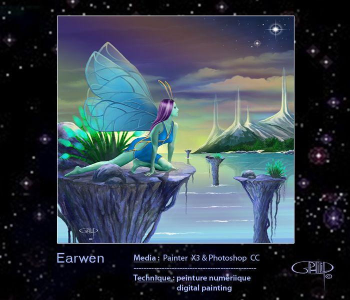 Fairy beholding her strange world...
