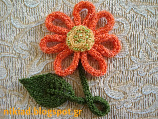 Χειροτεχνήματα: Κορδόνι πλεκτό με βελόνες / i- cord knitted on str...