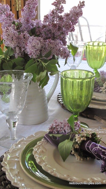 Red Couch Recipes: Lilacs in the Springtime Table