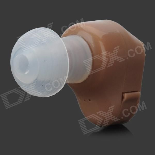In-Ear Ear Sound Voice Amplifier Hearing Aid - Light Brown (1 x A312)