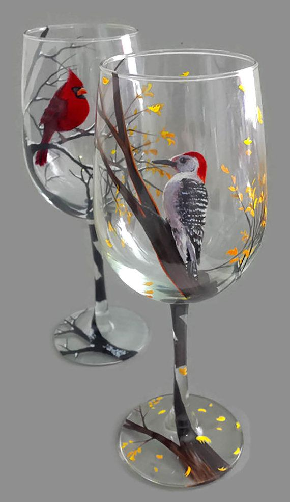 451 Best Images About Wine Glass Art On Pinterest