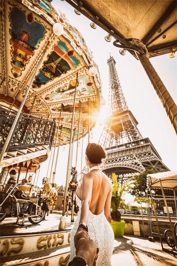 Một góc ảnh rất đặc biệt về Tháp Eiffel - Pháp.(Ảnh: MrLee)