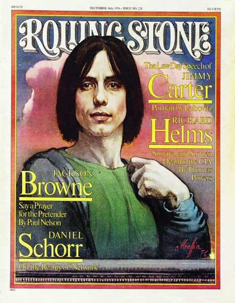 Rolling Stone Cover of Jackson Browne (illustration)