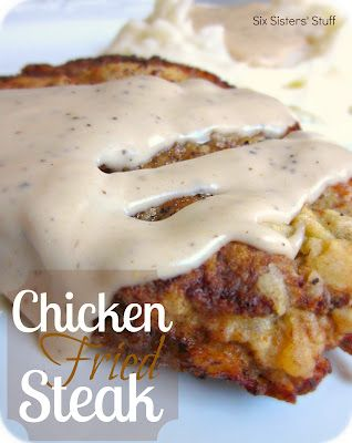 Delicious Chicken Fried Steak from sixsistersstuff.con #recipe #Beef #Dinner