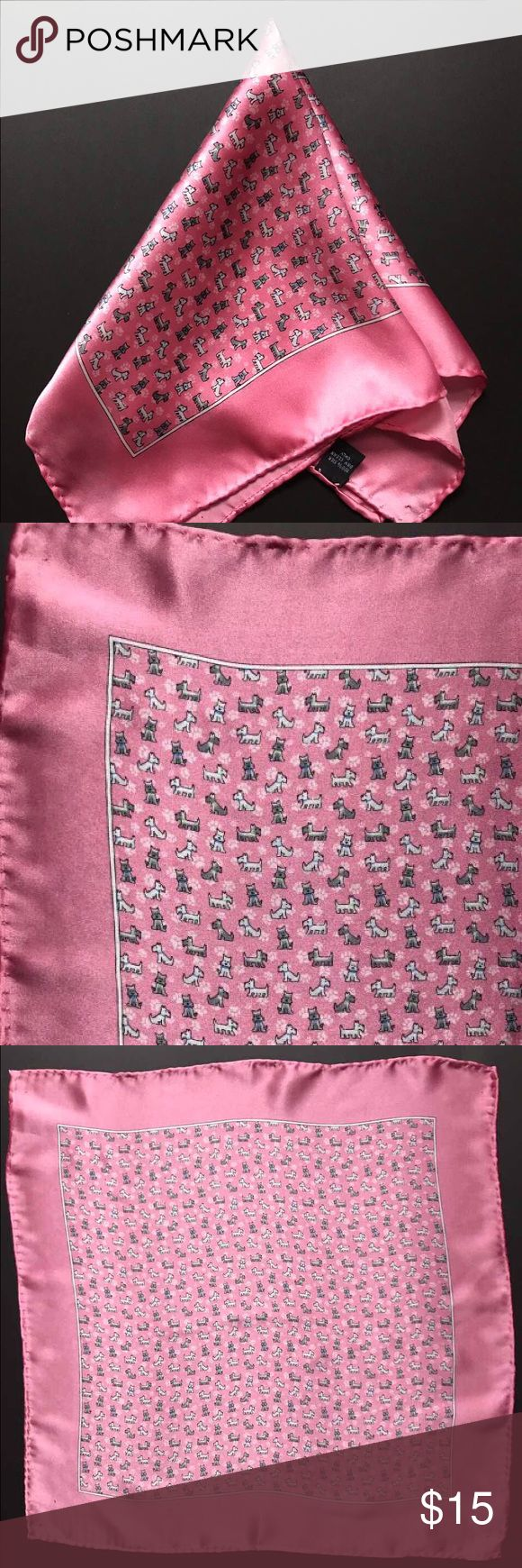 "New silk light pink pocket square 🐶🐶🐶😉 New without tag. 100% silk. Size 15"" 15"" Accessories Pocket Squares"