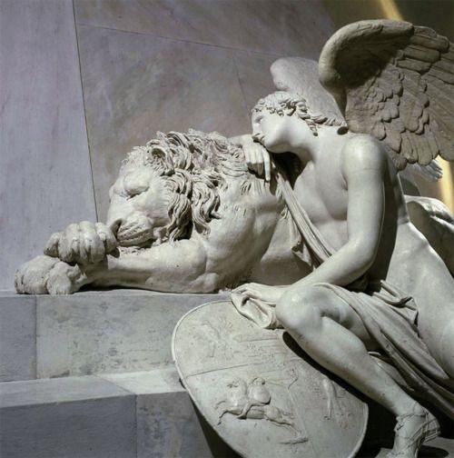 Antonio Canova (Italian, 1757-1822), Tomb of Maria Christina of Austria, 1798-1805. Augustinerkirche (St. Augustine's Church), Vienna