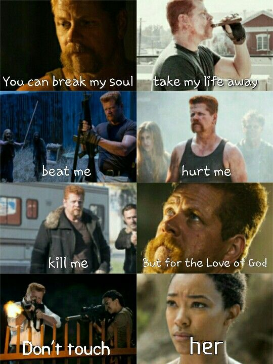 """You can break my soul, take my life away, beat me, hurt me, kill me, but for the Love of God, don't touch HER."" Abraham Fird and Sasha Williams 