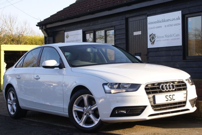 Audi A4 2.0 TDI 143 SE Technik 4dr Saloon Diesel Glacier White for sale at http://www.simonshieldcars.co.uk/used/audi/a4/20-tdi-143-se-technik-4dr/ipswich/suffolk/17663800