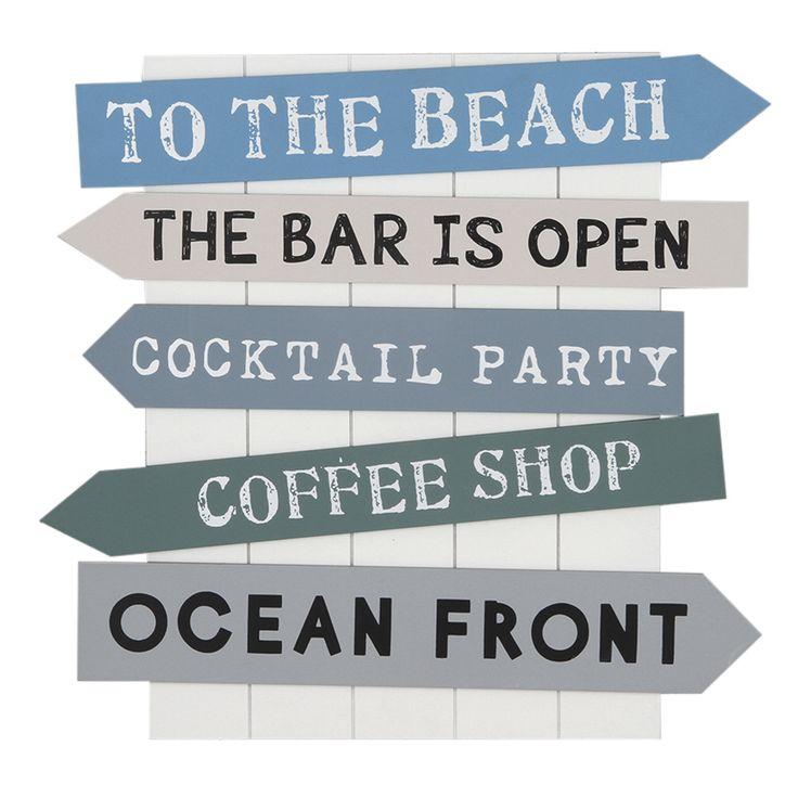 Seaside Directions Wooden Wall Art