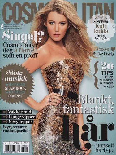 olha só que linda a Blake Lively na capa da Cosmopolitan norueguesa de fevereiro