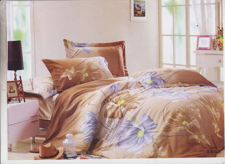Sani Home Decor Double Bedsheet with 2 Pillow Cover-Brown Color