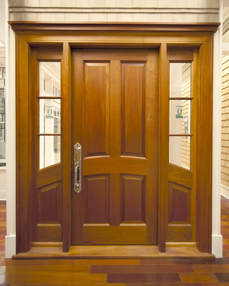 4 panel door with 3 lite over one arched panel sidelites for 12 panel front door