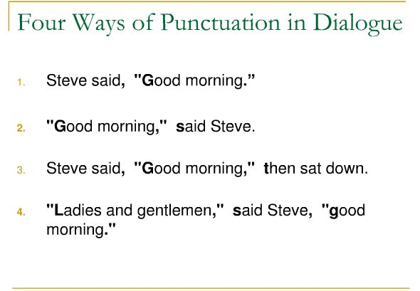 Rules of Punctuation Overview