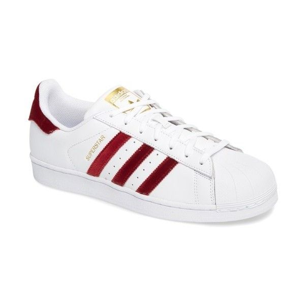 Women's Adidas Superstar Sneaker ($80) ❤ liked on Polyvore featuring shoes, sneakers, adidas, retro sneakers, adidas sneakers, retro shoes and adidas shoes