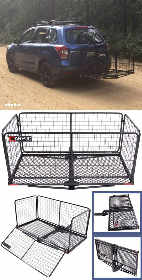 23x47 Carpod Walled Cargo Carrier For 2 Hitches Steel Folding 450 Lbs Carpod Hitch Cargo Carr Camping Supplies Camping Items Camping Checklist