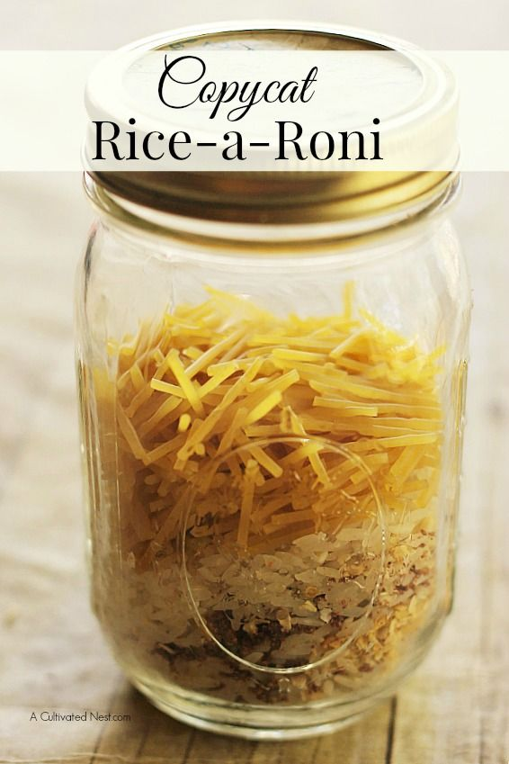 Here's a great recipe for making your own copycat Rice-A-Roni! Whether you want to replace store bought boxed foods, or whether you've run out and want to s