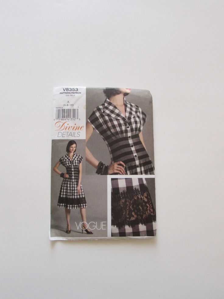 Vogue Dress Divine Details Pattern V8353- New by NeedleandFoot on Etsy