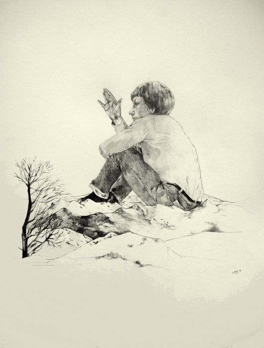 Bonjour M.Goya  2013  56x76  Pencil on paper