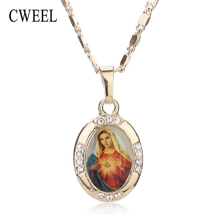 Women Men Cross Jesus Necklace Beads Jewelry Trendy 18K Real Gold Plated Pendant Sets For Vintage Fine Statement Accessories