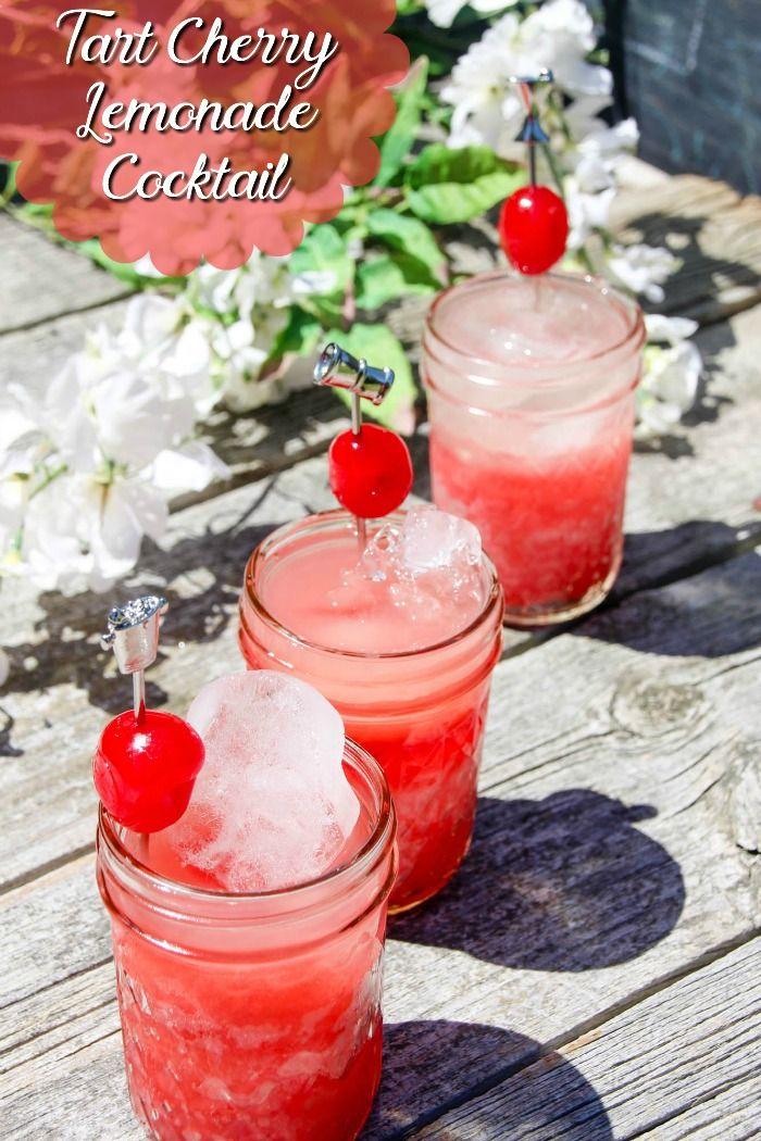 Lemonade Tart Cherry Juice Cocktail Recipe - Feather ...