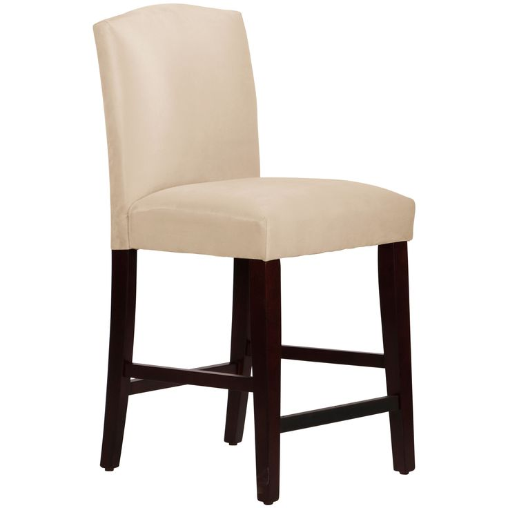Skyline Furniture Arched Counter Stool in Micro-Suede Oatmeal