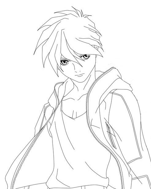 Heero yuy lineart gundamwing pinterest for Gundam wing coloring pages