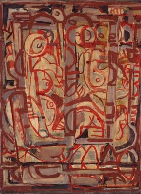 Ian Fairweather - Born England lived and worked in Bribie Island QLD - strange fragments: Mark making- Ian Fairweather