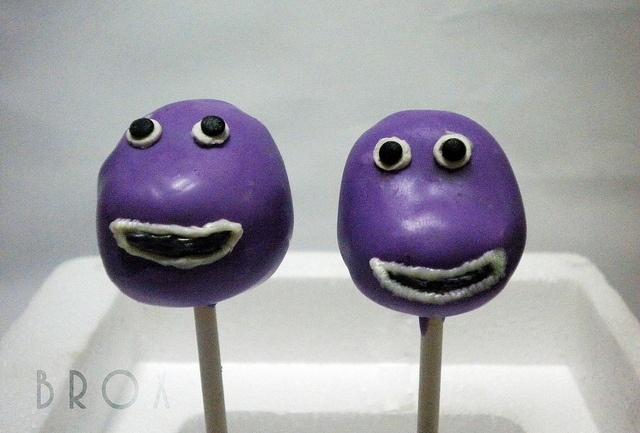 barney cake pops - photo #4