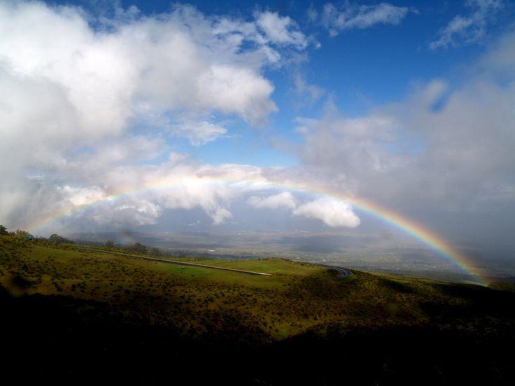 Beautiful view with rainbow.