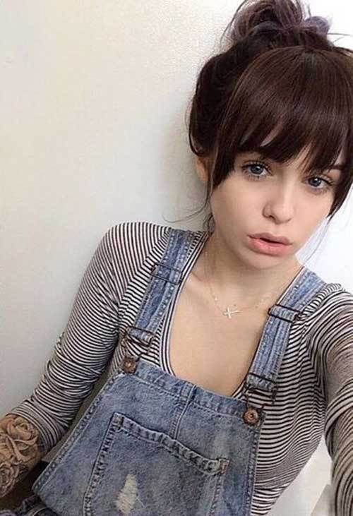 Quiff Hairstyle Women | Long hair with bangs, Hairstyles with bangs, Long hair styles