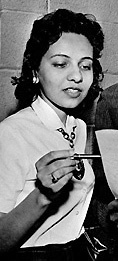 Diane Nash, a vocal and talented leader of the student movement in Nashville, Tennessee and a founding member of SNCC.