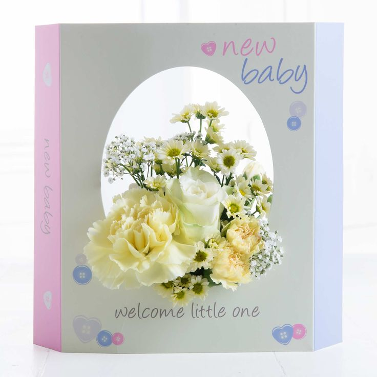 New Baby FloralCard -  A delicate mix of blooms in muted tones, this FloralCard is just perfect for welcoming the new bundle of joy into the world!