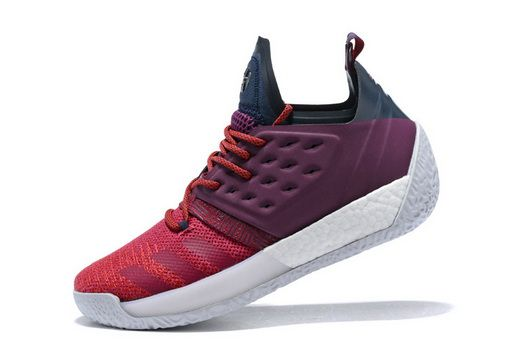 08c3e3bd5321 Adidas Harden Vol 2 Ignite Ii James Harden Maroon Red Basketball Ah2124  shoe fit Shoe
