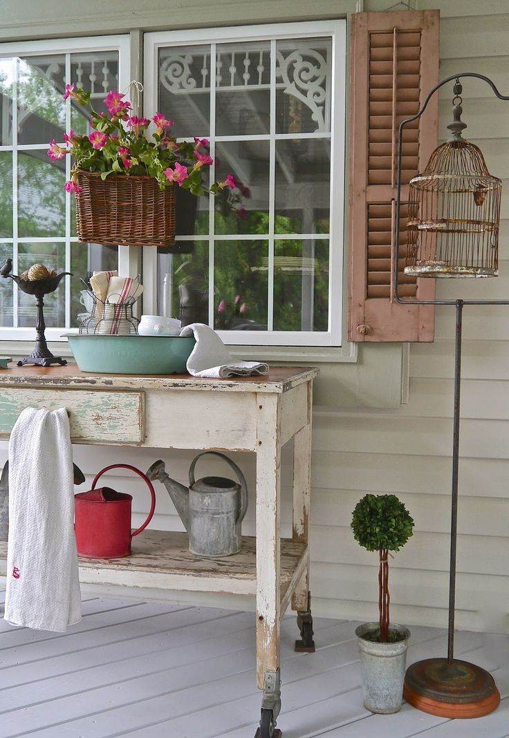17 best ideas about shabby chic porch on pinterest for Shabby chic porch ideas