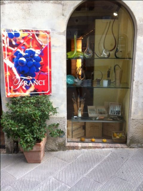 CLARESCO Glass putting some charm to wonderful streets of Tuscan town Montalciano.