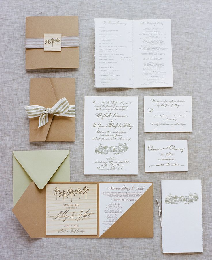 wedding invitations from michaels crafts%0A An elegant invitation suite for a southern backyard wedding  Photo  A Bryan  Photo