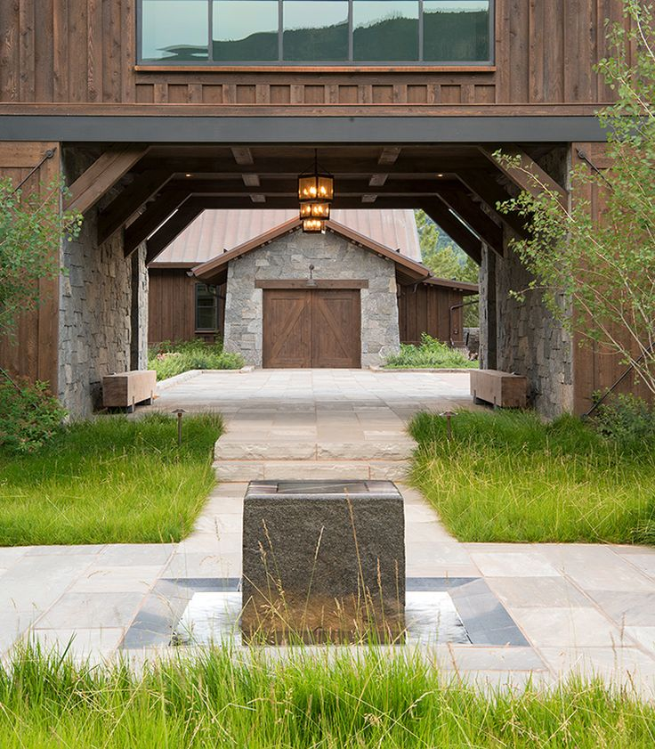 In this Aspen,Colorado courtyard, no-mow grass requires less maintenance and water than traditional Gardenista ASLA Design Workshop