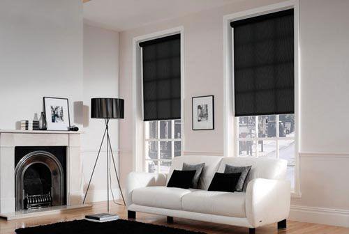 white black curtains | Blinds - Roller, Vertical, Venetian - Elegant Curtains