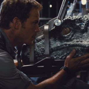blue raptor  jurassic world | Jurassic World News - Indominus Rex eats a Gyrosphere and Chris Pratt ...