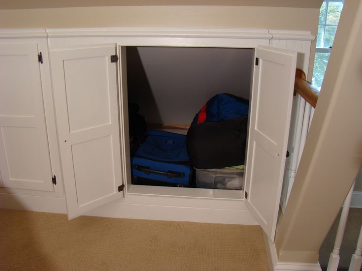 Instead of built ins, good option for storing large bulk items like comforters or bedding.