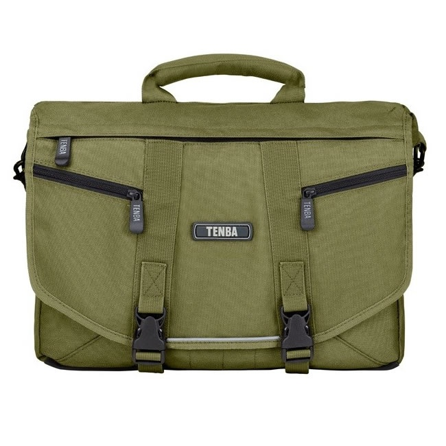£69.95 TENBA Messenger Shoulder Bag (Olive) - Large. The essence of urban – a sleek, lightweight, street-smart satchel that holds a ton, yet hugs your body, moves with you, and doesn't cramp your style. A removable photo insert allows you to convert it quickly from a camera bag to a general-purpose gym bag, book bag, school bag or briefcase.