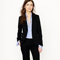 black suit- blue shirt