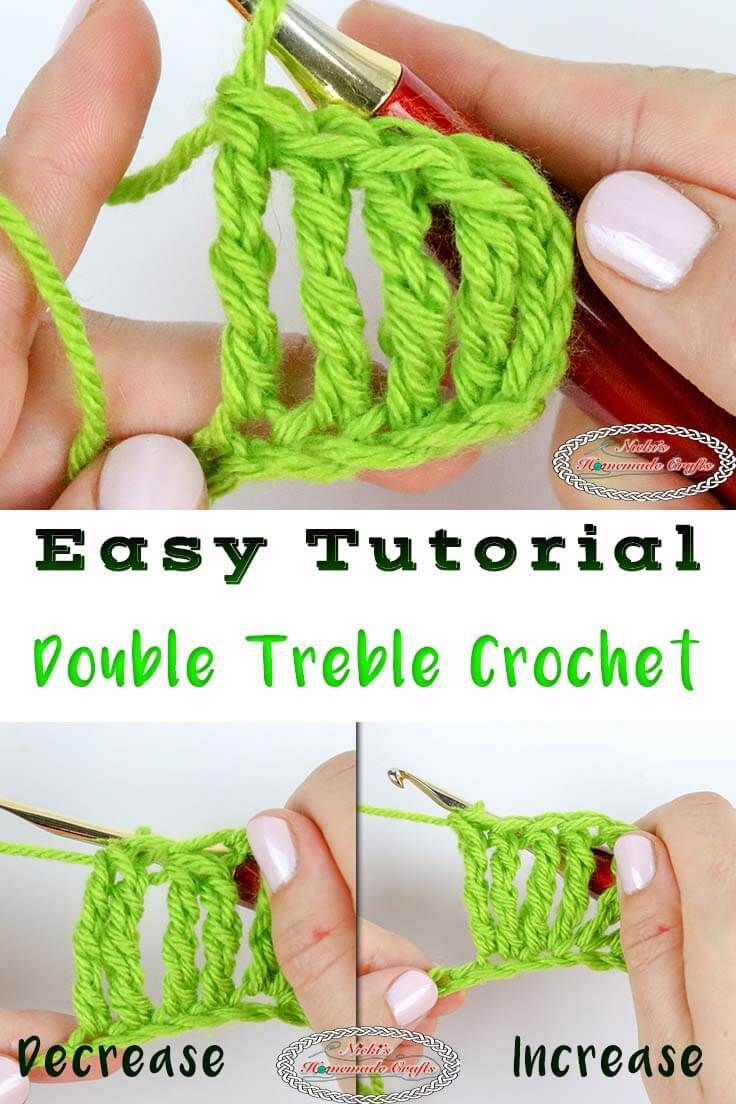 Learn How To Crochet A Double Treble Crochet Easily You Will Also Learn How To Increase An Crochet For Beginners Crochet Videos Tutorials Crochet Instructions