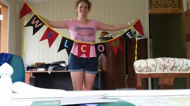 Welcome bunting for start of the school year.